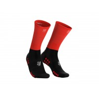 COMPRESSPORT MID COMPRESSION SOCKS BLACK/RED