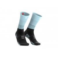 COMPRESSPORT MID COMPRESSION SOCKS BLACK/ICE BLUE