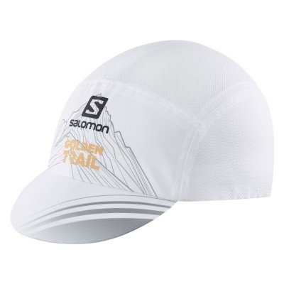 SALOMON CAP AIR LOGO CAP WHITE GOLDEN TRAIL SERIES